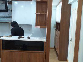Hình ảnh Thực Tế Thi Công Nội Thất Căn Hộ 2 Phòng Ngủ Chung Cư HUD3 – Tây Nam Linh Đàm